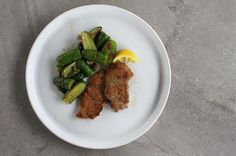 Pork Scaloppine with Sautéed Cucumbers + Spring Onions, a recipe on Food52