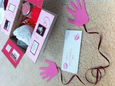 Sending hugs and kisses in my boyfriends Valentines Day care package.. Literally !