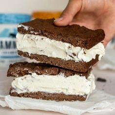 The Best Keto Ice Cream Sandwich | Creamy and Delicious!- KetoConnect Keto Ice Cream, Sandwiches, Cookie Bars, Paleo Recipes, Paninis, Against All Grain