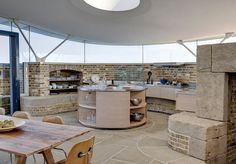 love the slabs of stone on floor - if we don't do concrete, we'd love a floor like this too - like a cathedral floor Bawdsey, Suffolk — The Modern House Estate Agents: Architect-Designed Property For Sale in London and the UK Wc Public, Mad About The House, Barn Renovation, Unusual Buildings, Dome House, Amazing Architecture, Building Design, Property For Sale, Beautiful Homes