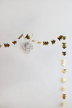 DIY Gold Triangle Garland