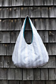 Sale Hobo Bag - Slouchy Purse -Sling bag- Customized - Over the Shoulder -  Grey Hobo Bag Canvas Hobo Bag - Hobo Purse Herringbone Hobo Bag 894ba6c855