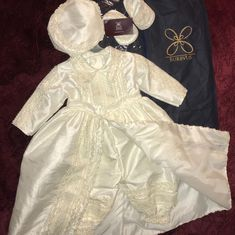 Britney Castaneda added a photo of their purchase Christening Gowns For Girls, Baby Boy Baptism Outfit, Baby Boy Christening, Christening Outfit, Baptism Dress, Beautiful Baby Girl, Boy Outfits, Cute Dresses, Jumpsuit