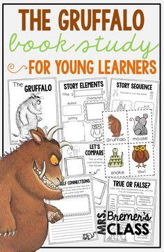 The Gruffalo book study companion activities for K-2