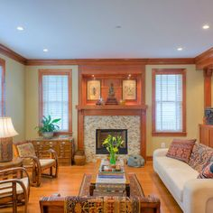 Light Wood Trim with painted walls