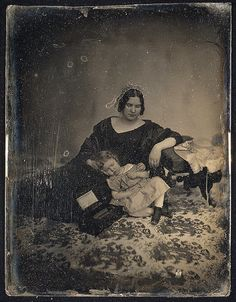 ca. 1850 mother and deceased child