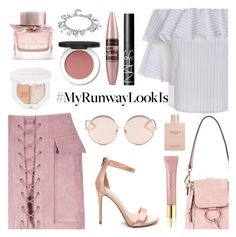 """""""What's YOUR Runway Look?"""" by dora04 ❤ liked on Polyvore featuring N°21, Chloé, Puma, Burberry, AERIN, Maybelline, Gucci and NARS Cosmetics"""