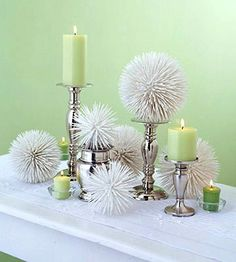 Stick toothpicks in Stryofoam balls and paint white or silver