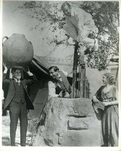 "1923 - Charlie Chaplin, director Ernst Lubitsch, Mary Pickford (in costume for her film ""Rosita"" Lubitsch directs) & husband Douglas Fairbanks. Chaplin Film, John Hawkes, Charles Spencer Chaplin, Douglas Fairbanks, Mary Pickford, Bad Memories, Angels In Heaven, Charlie Chaplin, Silent Film"