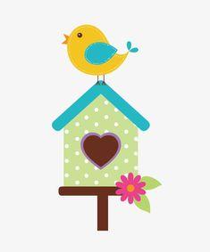 Bird House, Azul, Bird PNG y Vector para Descargar Gratis Bird Crafts, Felt Crafts, Diy And Crafts, Crafts For Kids, Paper Crafts, Art Drawings For Kids, Drawing For Kids, Bird Applique, Felt Books