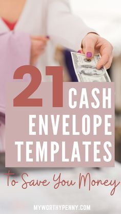 Learn how to save money using cash envelope by using these cash envelope templates. These cash envelope printables can help prevent overspending, save money, pay off debt and achieve your financial goals. Budgeting System, Budgeting Finances, Budgeting Tips, Envelope Budget System, Cash Envelope System, Budget Envelopes, Cash Envelopes, Envelope Templates, Templates Free