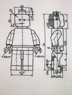Craftster Pick of the Week - Lego Plans from Cross-Stitch Ninja