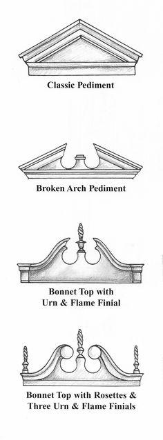 Furniture pediments.