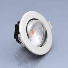 LED Einbaustrahler 5W warmweiß rund Einbauspot Spot Einbau-LED Deckenspot Rahmen in Heimwerker, Lampen & Licht, Einbauleuchten | eBay!