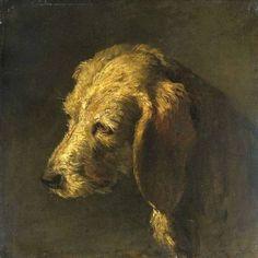 Nicolas Toussaint Charlet: Head of a Dog (1820)