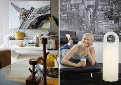 fotos enormes e em preto&branco, que preenchem as paredes sem pesar na decoração.