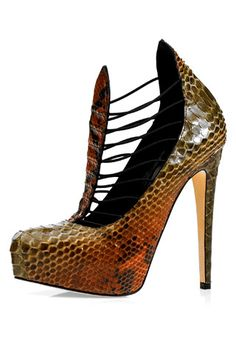 Brian Atwood Shoes Fall 2009 Snakeprint Booties