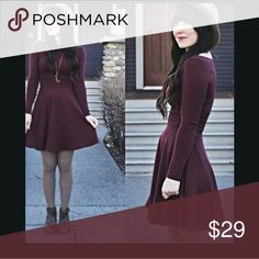 American Apparel Skater Dress Good used condition. Gorgeous burgundy color! American Apparel Dresses