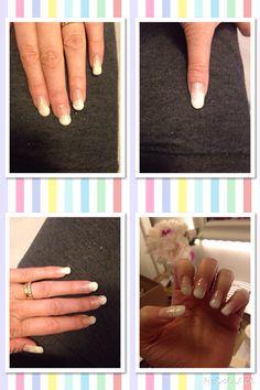 Testade att göra franska vita-fade naglar