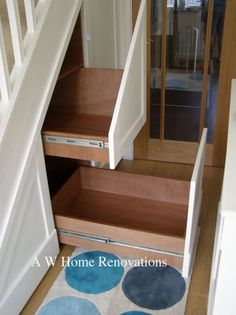 Under Stairs Drawers oak pull out under stairs drawers 1 | basement stairs | pinterest