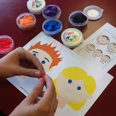 Travailler les #émotions avec la #Patarev #diy #activitécréative #Autisme #handiy #Playdoughfun #Ted #OT #freetemplates http://www.hoptoys.fr/upd/planche_emotions-picto-cal.pdf