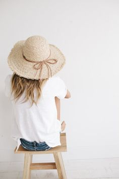 The Addie is our sure statement wide brim sun hat made from genuine rafia straw. Dome crown is trimmed with genuine leather detail. If misshaped for whatever reason, steam gently, then work with hands