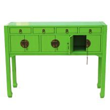 Antique Lime Green Sofa Table