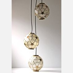 Capiz Pendant Lamp, $398, now featured on Fab.