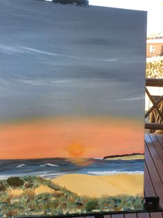 Oyster Bay sunset 2015 in oils