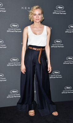 Diane Kruger showed off her toned arms in a DK for Jason Wu outfit during the Women in Motion event.