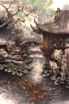 , Wonderful Scenery He is one of the most celebrated landscape painters in China t. , Wonderful Scenery He is one of the most celebrated landscape painters in China today. As a unique product of Chinese culture, landscape pa. Asian Landscape, Chinese Landscape Painting, Japanese Painting, Chinese Painting, Landscape Art, Japanese Art, Landscape Paintings, Landscapes, Chinese Artwork