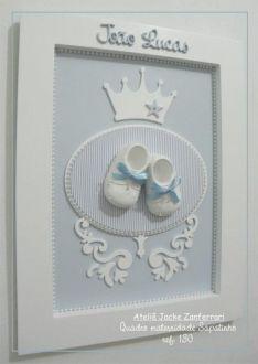 Quadro Maternidade Sapatinho Arabesco :: Jacke Zanferrari