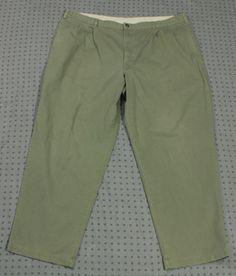 LL Bean Green Pants Sz 46 32 Dress Casual Classic Fit #LLBean #DressCasual