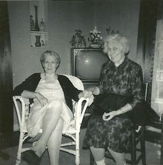 Sisters--Grandma Fay and Great Aunt Grace; Deer's Mill, 1956.