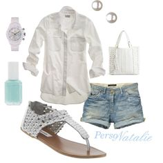 Summer White, created by natalie-buscemi-hindman on Polyvore