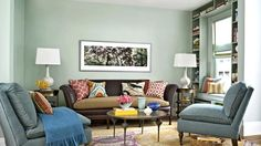 Set a stylish tone in your living room with these paint colors.