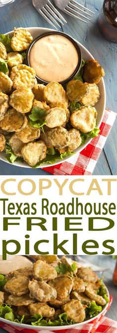 Easy Deep Fried Pickles Recipe is the best appetizer around. It's a copycat … Easy Deep Fried Pickles Recipe is the best appetizer around. It's a copycat Texas Roadhouse Fried Pickles recipe that is amazing. Deep Fried Pickles, Fried Pickles Recipe, Air Fryer Recipes Pickles, Recipe With Pickles, Baked Fried Pickles, Cooking Recipes, Healthy Recipes, Healthy Sauces, Air Fruer Recipes