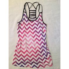 Chevron Galaxy Tank Top Beautiful purple/pink/white/black tank. Never worn but no tags. Empyre Tops Tank Tops