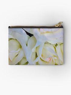 """""""White Roses (SCM)"""" Zipper Pouch by sillybanana Custom Packaging, Packaging Design, Branding Design, Logo Design, Brand Style Guide, Book Design Layout, Character Modeling, Mobile Design, Social Media Design"""