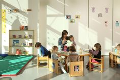 New School District / ccd monolocale Reggio Emilia Approach, Project Finance, Inspired Learning, Montessori Classroom, Nursery School, Classroom Design, Learning Spaces, Early Childhood Education, School District