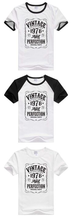 FOR Vintage Birth Year short sleeve casual Men Women T-shirt Comfortable Tshirt Cool Print Tops GA645