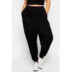 #trendsgal.com - #Trendsgal Elastic Waist Loose Fitting Solid Color Harem Pants For Women - AdoreWe.com