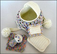 Crochet Baby Cradle Purse Pattern | YouCanMakeThis.com