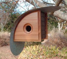 Bird House Kits Make Great Bird Houses Bird House Plans, Bird House Kits, Cool Bird Houses, Wood Bird Feeder, Modern Birdhouses, Objet Deco Design, Birdhouse Designs, Bird Boxes, Backyard Birds