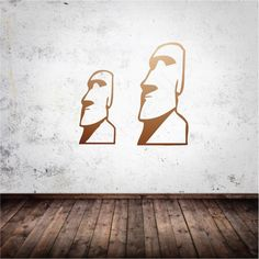 Easter Island Wall Decal in copper