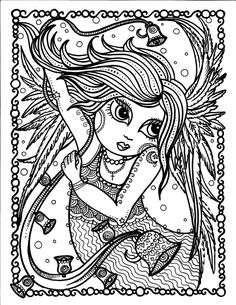 INSTANT DOWNLOAD ANGEL OF CHRISTMAS COLORING PAGE 85 X 11 You Will Be Able To Instantly