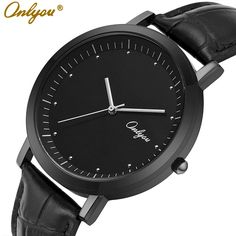 Find More Lover's Watches Information about ONLYOU Full Black Leather Quartz Watches For Women Men Japan Movement Waterproof Role Couple Watch Tag Ladies Fashion Dress 8705,High Quality quartz watch repair,China watch special Suppliers, Cheap quartz watch white from ONLYOU Watched on Aliexpress.com