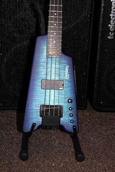 "Steinberger Synapse XS-1FPA Custom ""Transparent Blue Satin/Phenolic"" Headless 4 string Bass"