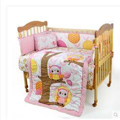 Mother & Kids Baby Bedding Open-Minded New 7 Pcs Lion Baby Bedding Set Baby Cot Crib Bedding Set Cartoon Animal World Tree Baby Crib Set Quilt Bumper Sheet Skirt