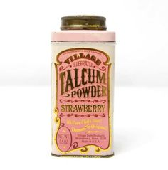 via Once New Vintage: Vintage Village Talcum Powder Tin